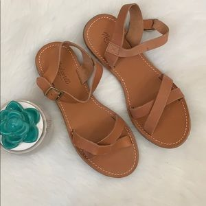 Madewell | leather crisscross ankle wrap sandal